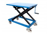 Record MMLT30CG Manual Mobile Lift Table Crank Operated