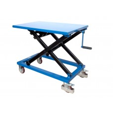 Record MMLT30CG Manual Mobile Lift Table Crank Operated 300kg
