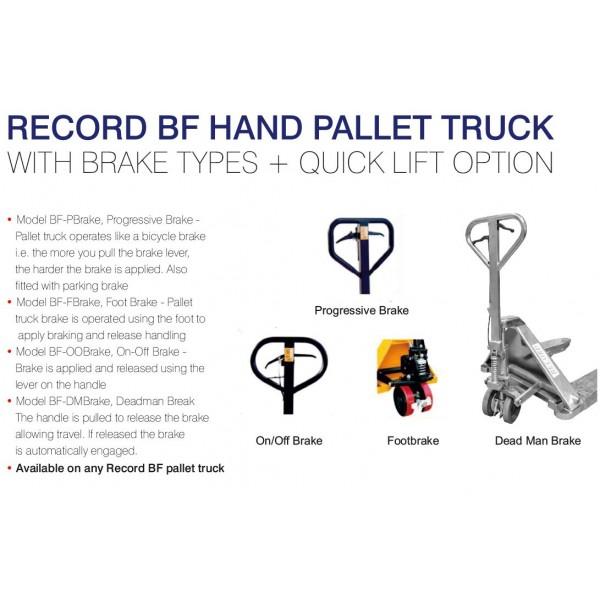 Record BF Brake Types + QL   BF Brake Types + QL   Hand
